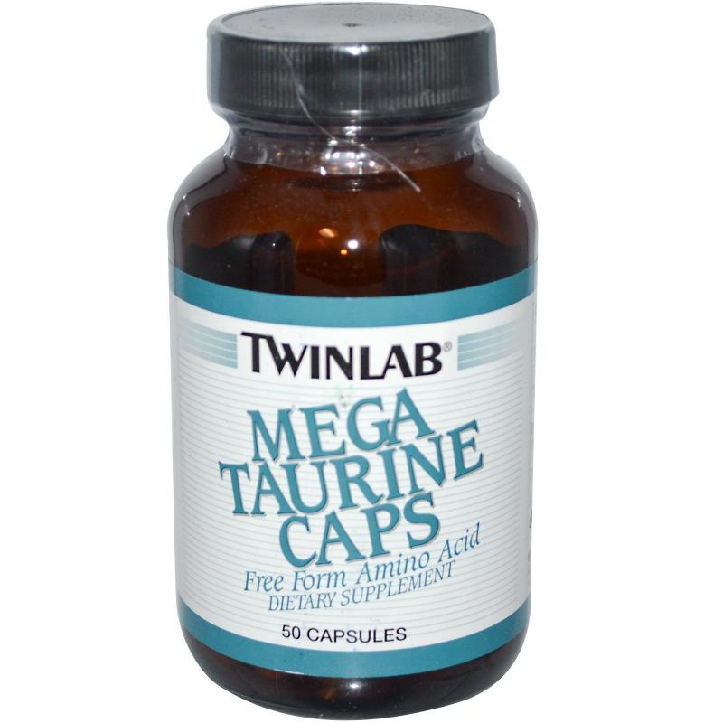 Twinlab, Mega Taurine Caps, 50 Capsules