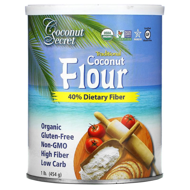 Coconut Secret, Raw Coconut Flour, 1 lb (454 g)