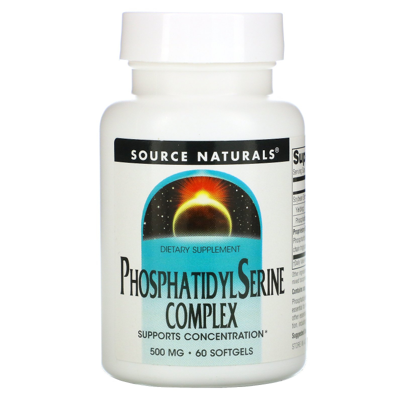 Source Naturals, Phosphatidyl Serine Complex, 500 mg, 60 Softgels