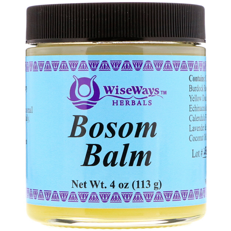 WiseWays Herbals, LLC, Bosom Balm, 4 oz (113 g)