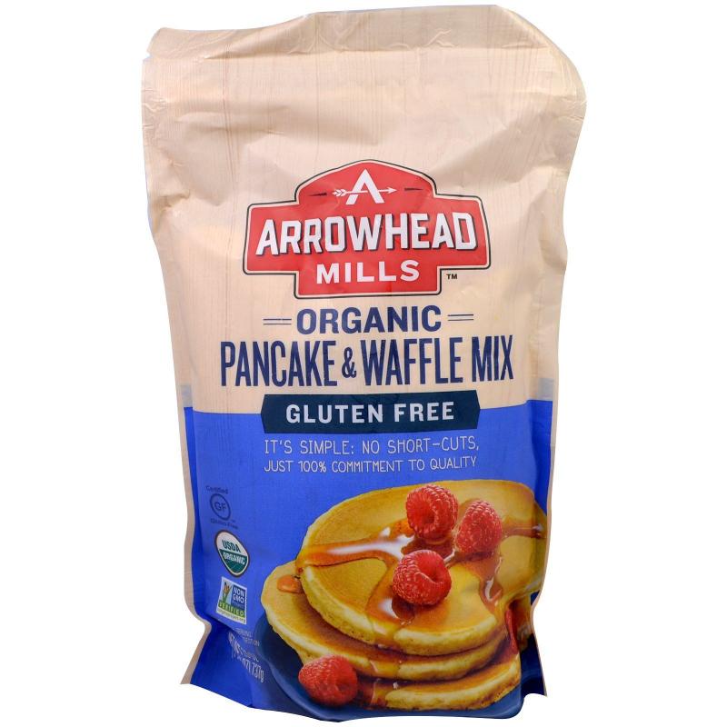 Arrowhead Mills, Organic Pancake & Waffle Mix, Gluten Free, 1.6 lbs (737 g)