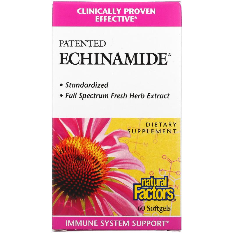 Natural Factors, Echinamide, 60 Softgels