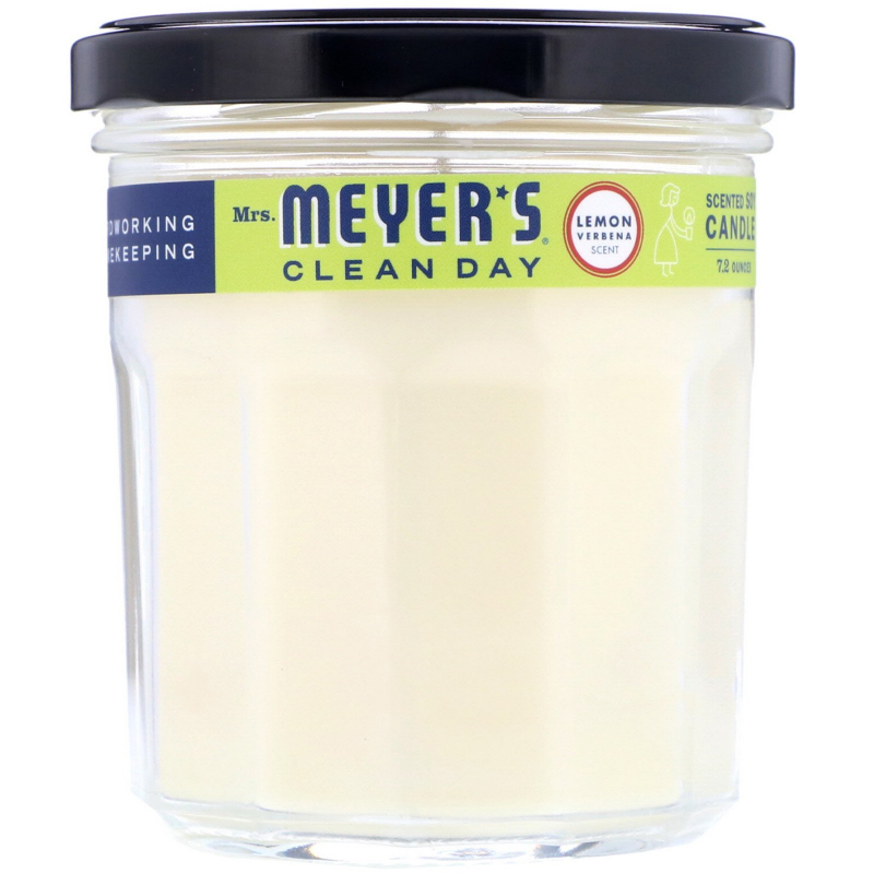 Mrs. Meyers Clean Day, Scented Soy Candle, Lemon Verbena Scent, 7.2 oz (204 g)