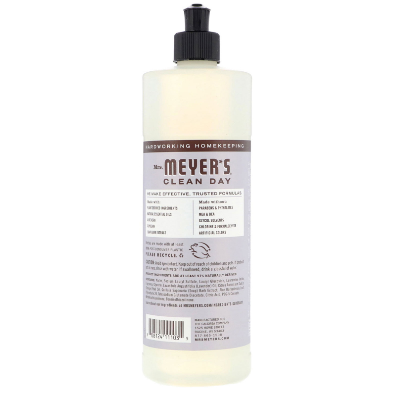 Mrs. Meyers Clean Day, Dish Soap, Lavender Scent, 16 fl oz (473 ml)