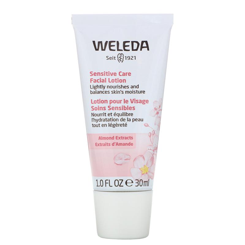 Weleda, Sensitive Care Facial Lotion, Almond Extracts, Sensitive & Combination Skin, 1.0 fl oz (30 ml)