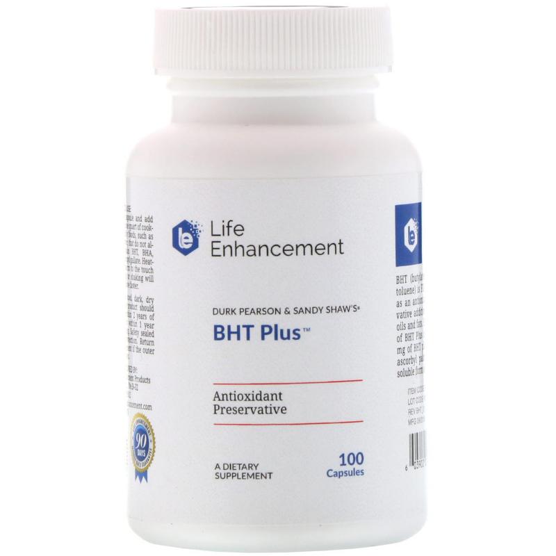 Life Enhancement, Durk Pearson & Sandy Shaw's BHT Plus , 100 Capsules