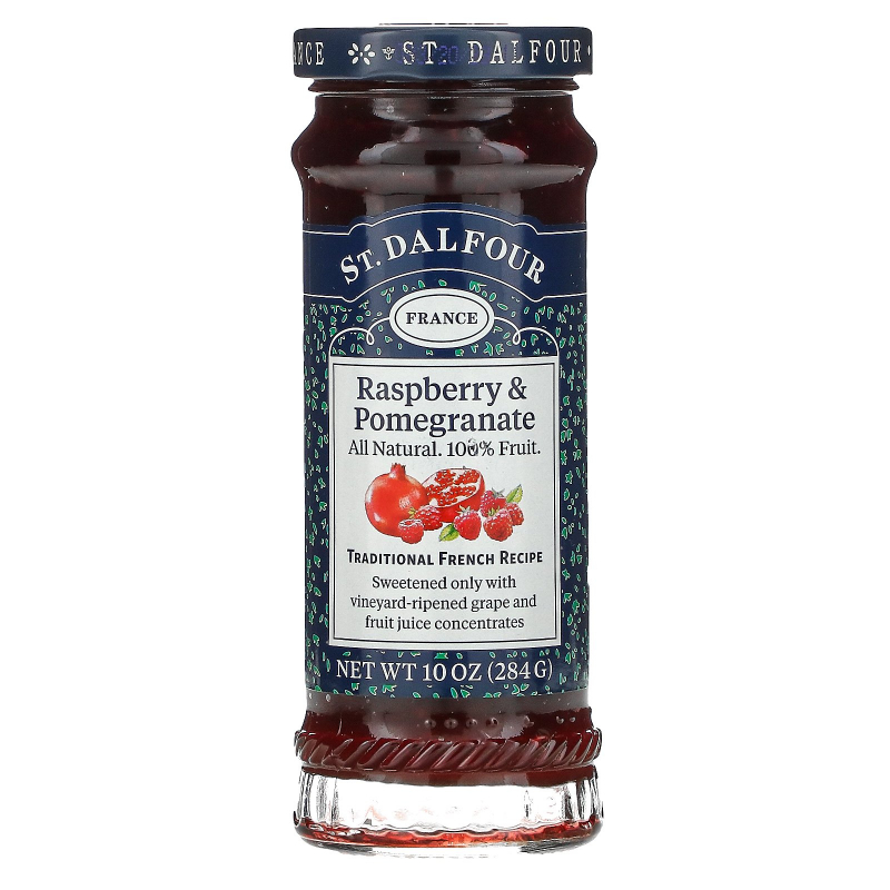 St. Dalfour, Red Raspberry & Pomegranate, Deluxe Red Raspberry & Pomegranate Spread, 10 oz (284 g)