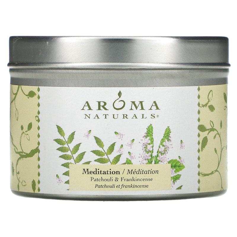 Aroma Naturals, Soy VegePure, Travel Candle, Meditation, Patchouli & Frankincense, 2.8 oz (79.38 g)