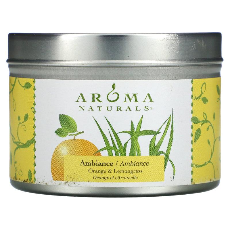 Aroma Naturals, Soy VegePure, Ambiance, Orange & Lemongrass, 2.8 oz (79.38 g)
