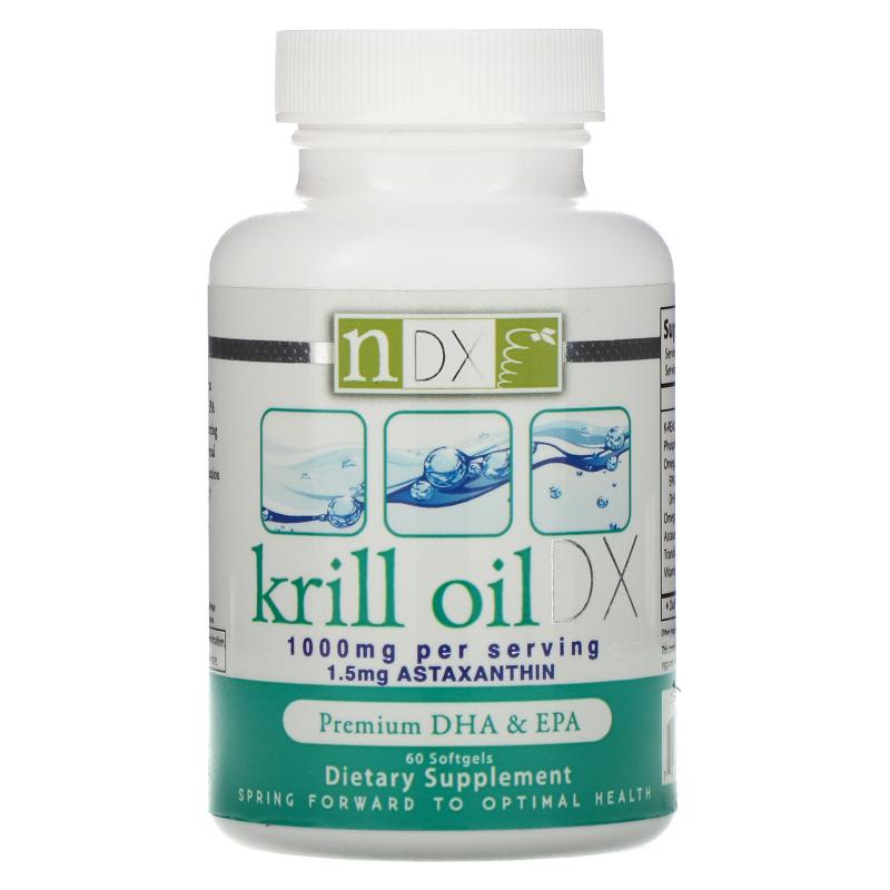 Natural Dynamix (NDX), Krill Oil DX, 1000 mg, 60 Softgels