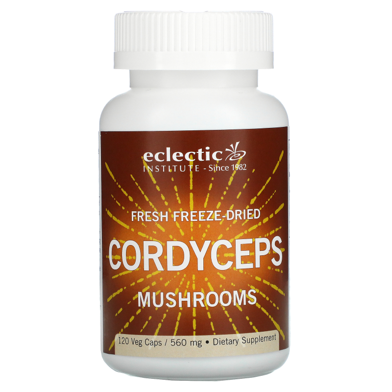 Eclectic Institute, Fresh Freeze-Dried Cordyceps, 560 mg, 120 Veg Caps