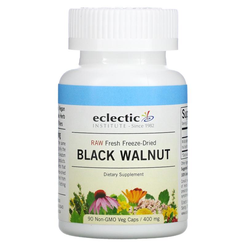 Eclectic Institute, Black Walnut, 400 mg, 90 Veggie Caps
