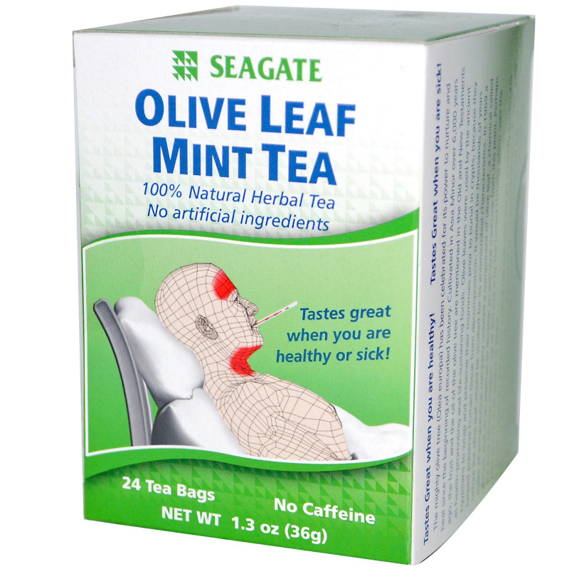 Seagate, Olive Leaf Mint Tea, 24 Tea Bags, 1.3 oz (36 g)
