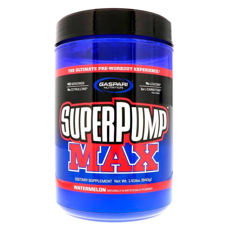 Gaspari Nutrition, Superpump Max, The Ultimate Pre-Workout Supplement Experience, Watermelon, 1.41 lbs (640 g)