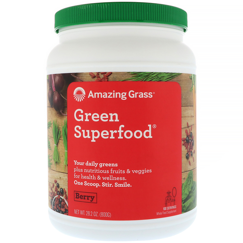 Amazing Grass, Green Superfood, Berry, 1.7 lbs (800 g)