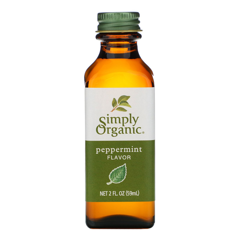Simply Organic, Peppermint Flavor, 2 fl oz (59 ml)