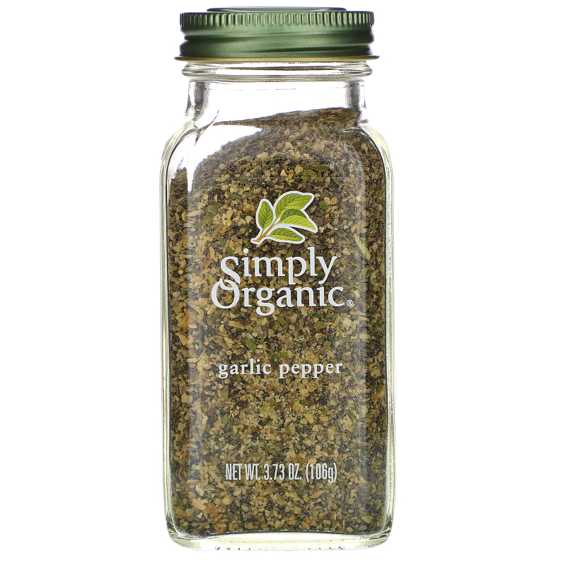 Simply Organic, Garlic Pepper, 3.73 oz (106 g)