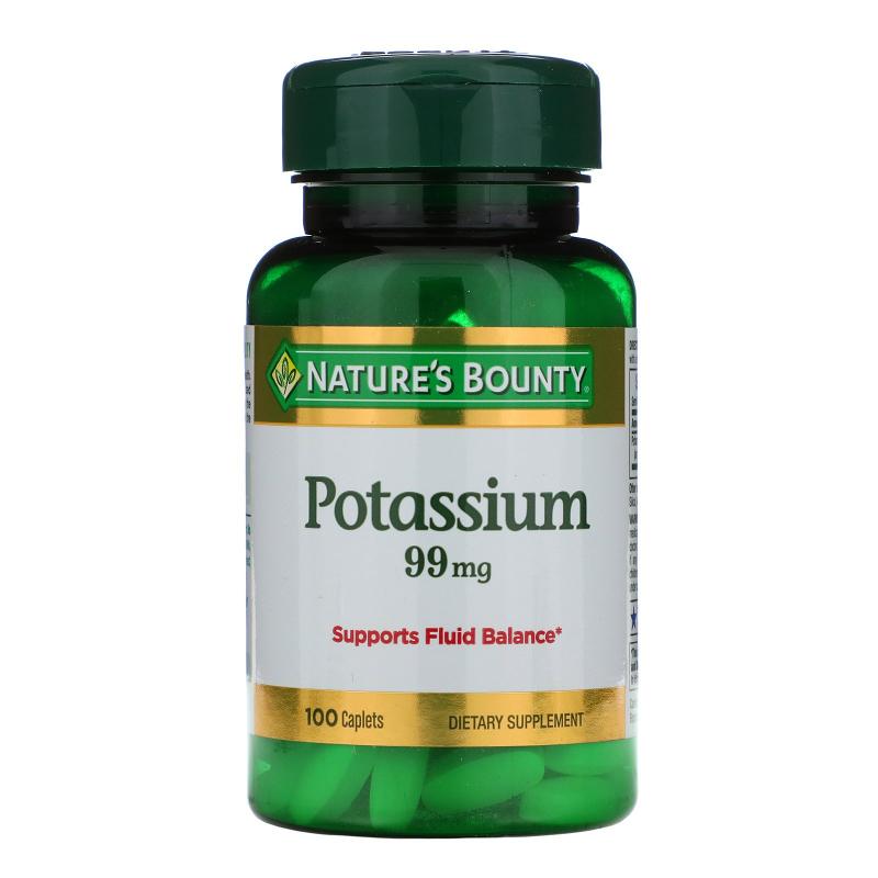Nature's Bounty, Potassium, 99 mg, 100 Caplets