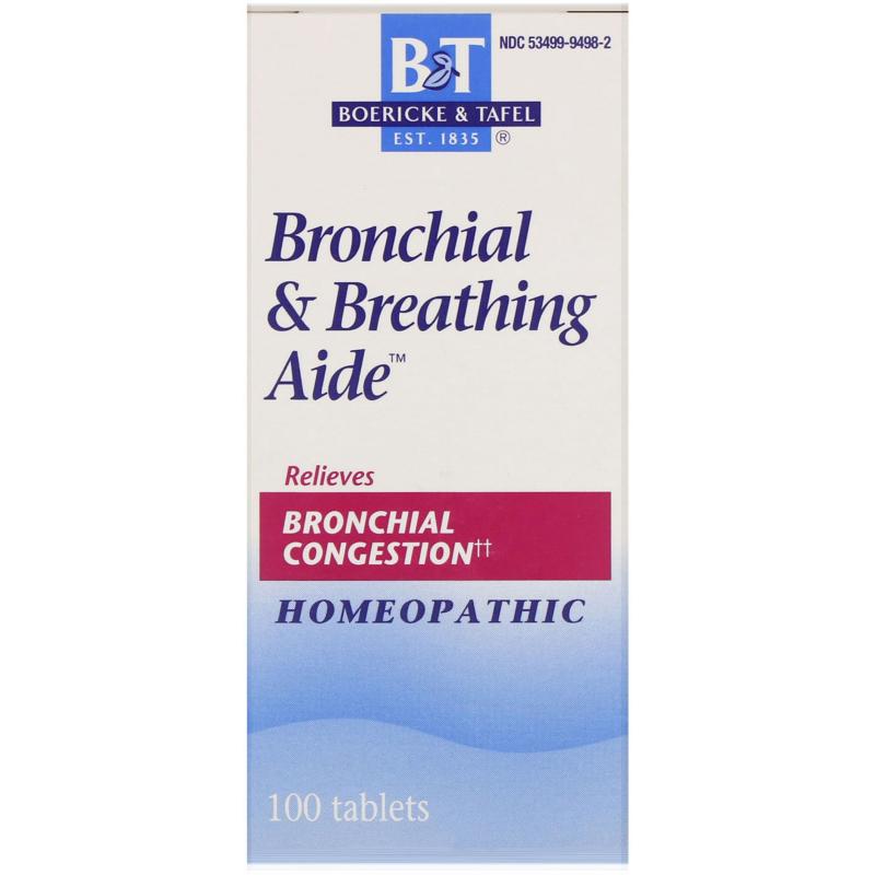Boericke & Tafel, Broncial & Breathing Aide, 100 Tablets