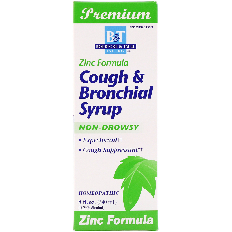 Boericke & Tafel, Cough & Bronchial Syrup, with Zinc, 8 fl oz