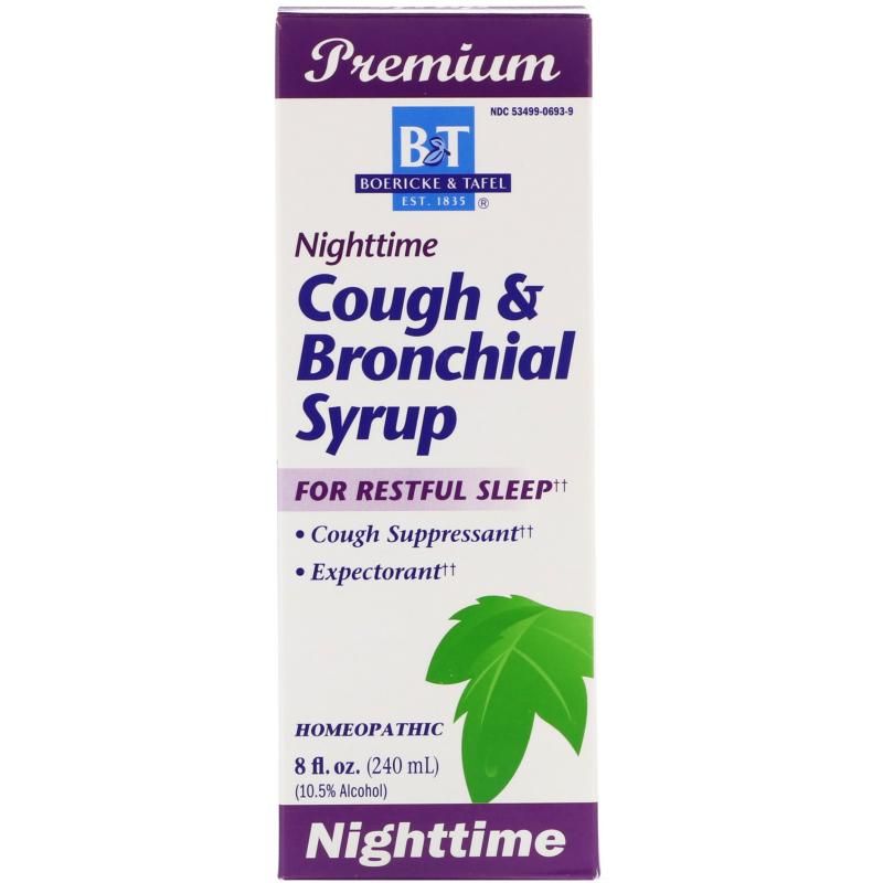 Boericke & Tafel, Nighttime Cough & Bronchial Syrup, 8 fl oz