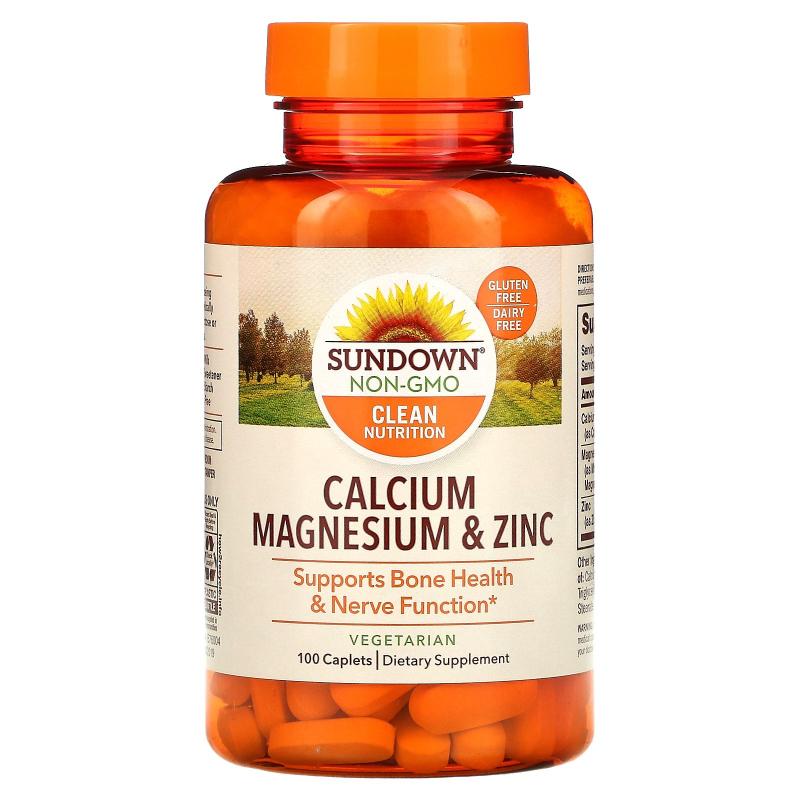 Sundown Naturals, Calcium Magnesium and Zinc, 100 Caplets