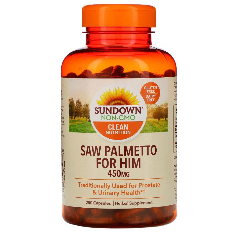 Sundown Naturals, Whole Herb, Saw Palmetto, 450 mg, 250 Capsules