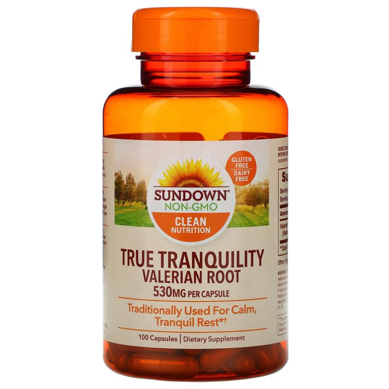 Sundown Naturals, Whole Herb Valerian Root, 530 mg, 100 Capsules