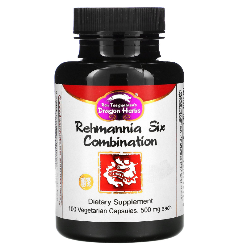 Dragon Herbs, Rehmannia Six Combination, 500 mg, 100 Veggie Caps