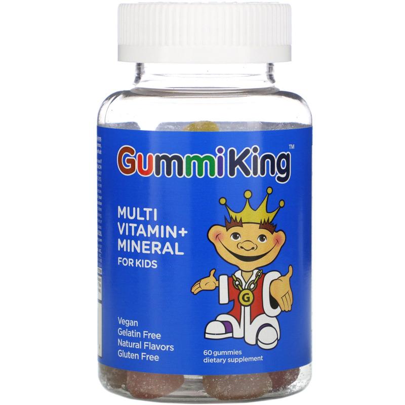 GummiKing, Multi-Vitamin & Mineral, For Kids, 60 Gummies