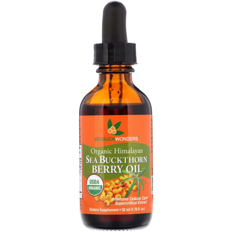 SeaBuckWonders, Organic Himalayan Sea Buckthorn Berry Oil, Intensive Cellular Care, 1.76 oz (52 ml)