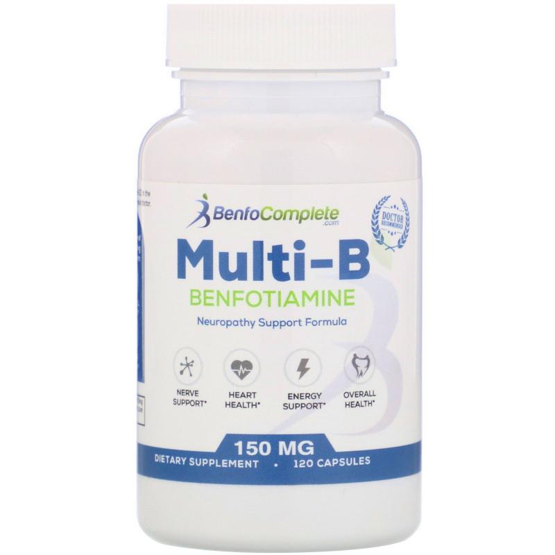 Benfotiamine Inc., Multi-B Neuropathy Support Formula, 150 mg, 120 Capsules