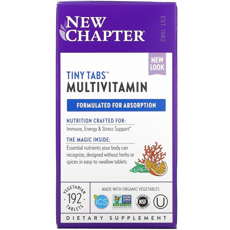 New Chapter, Tiny Tabs, Whole-Food Complexed Multivitamin, 192 Tablets