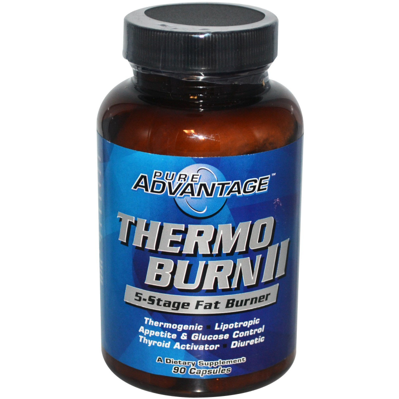 Pure Advantage, Thermo Burn II, 5-Stage Fat Burner, 90 Capsules