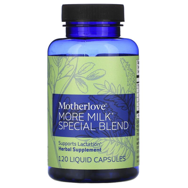 Motherlove, More Milk Special Blend, 120 Liquid Capsules