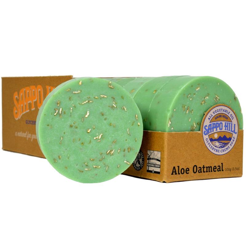 Sappo Hill, Glyceryne Cream Soap, Aloe Oatmeal, 12 Bars, 3.5 oz (100 g) Each