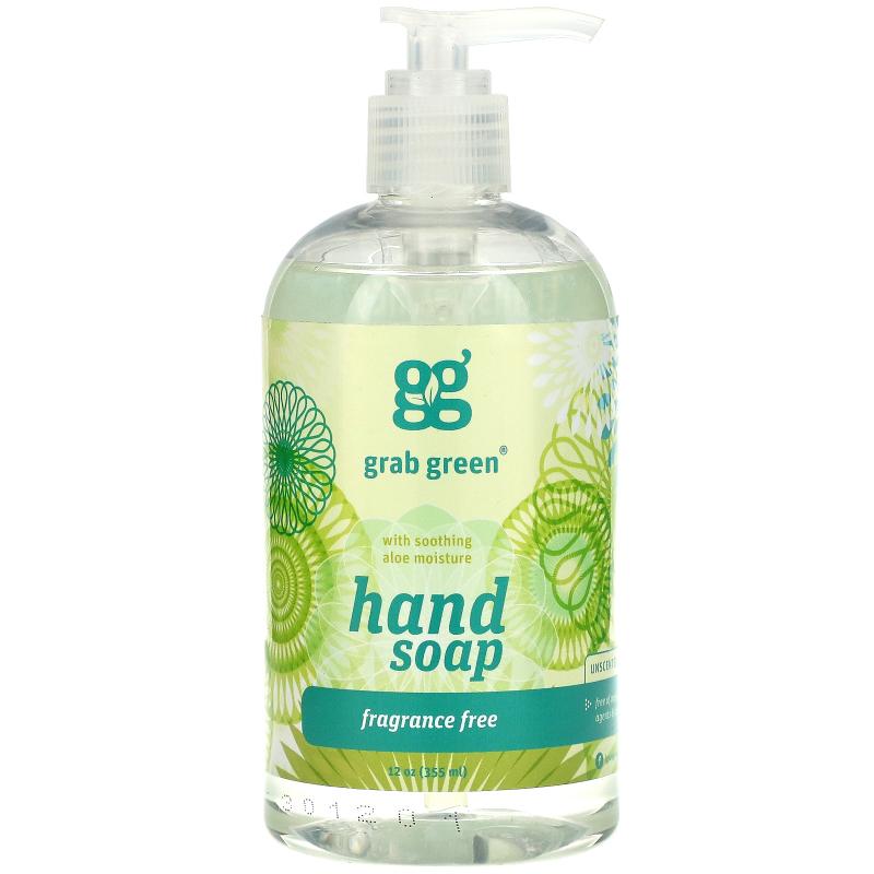 Grab Green, Hand Soap, Fragrance Free, 12 oz (355 ml)