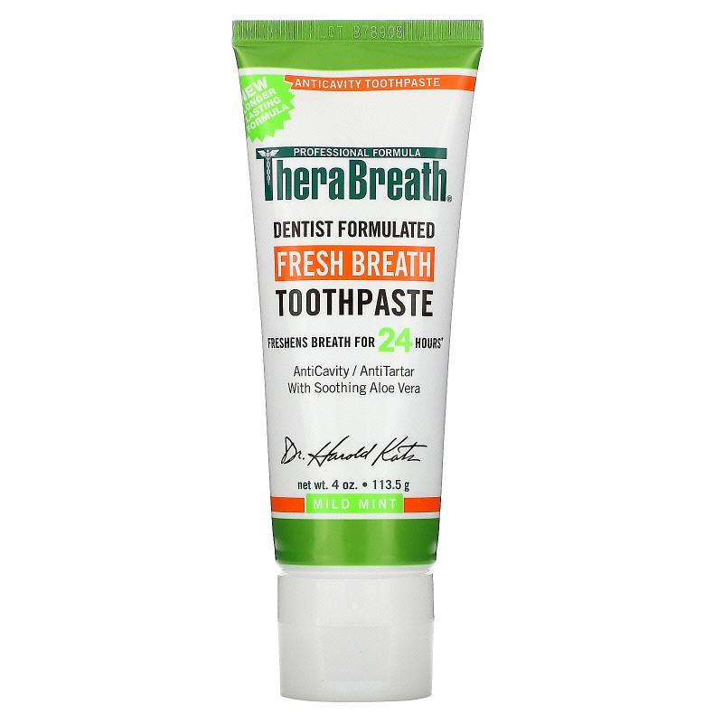 TheraBreath, Fresh Breath Toothpaste, Mild Mint Flavor, 4 oz (113.5 g)