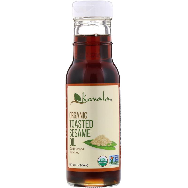 Kevala, Organic Toasted Sesame Oil, 8 fl oz (236 ml)