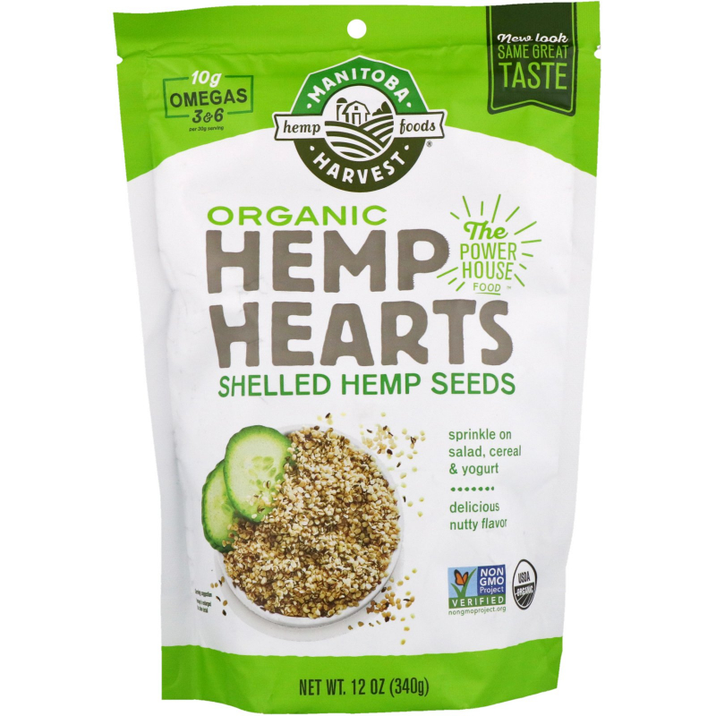 Manitoba Harvest, Organic Hemp Hearts, Shelled Hemp Seeds, 12 oz (340 g)