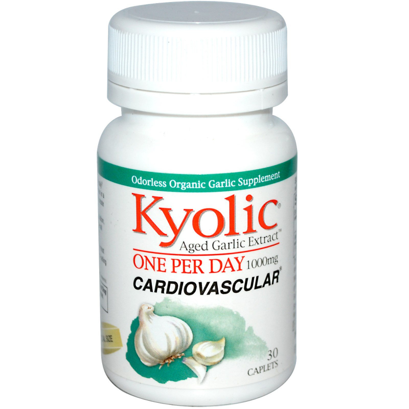 Kyolic, Aged Garlic Extract, One Per Day, Cardiovascular, 1000 mg, 30 Caplets
