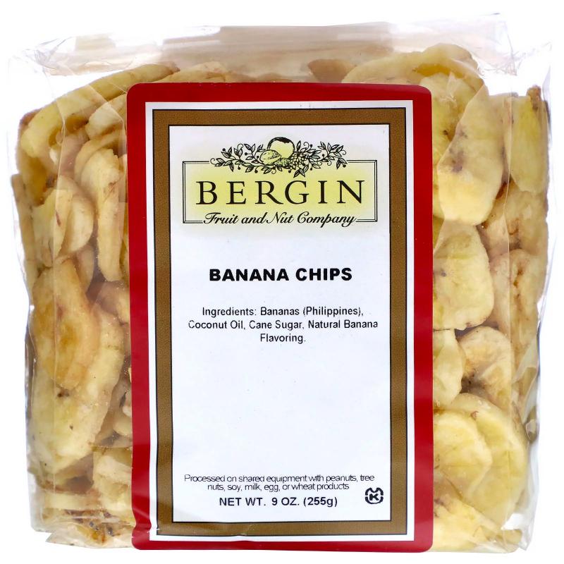 Bergin Fruit and Nut Company, Banana Chips, 9 oz (255 g)