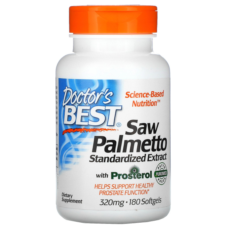 Doctor's Best, Euromed, Best Saw Palmetto, Standardized Extract, 320 mg, 180 Softgels