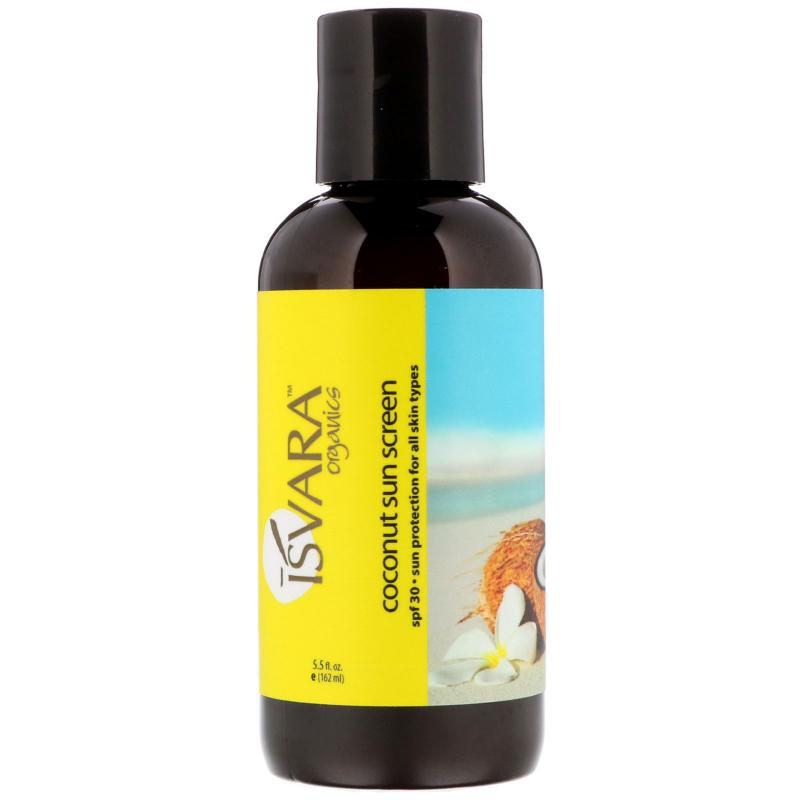 Isvara Organics, Coconut Sun Screen, SPF 30, 5.5 fl oz (162 ml)