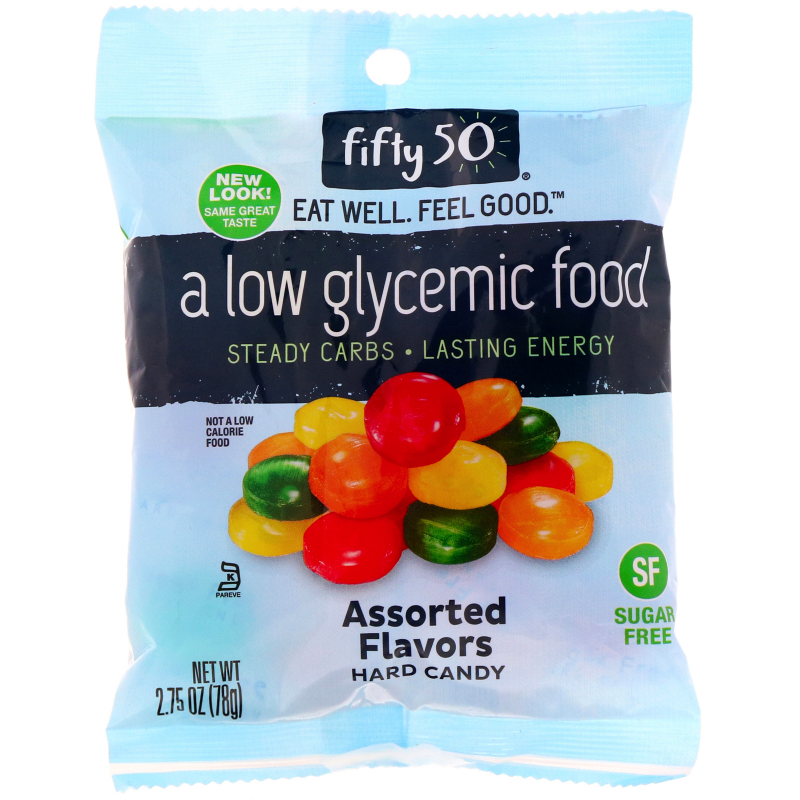 Fifty 50, Low Glycemic, Assorted Hard Candy, Sugar Free, 2.75 oz (78 g)
