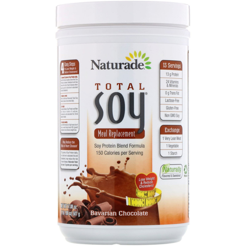 Naturade, Total Soy, Meal Replacement, Bavarian Chocolate, 1.1 lbs (507 g)