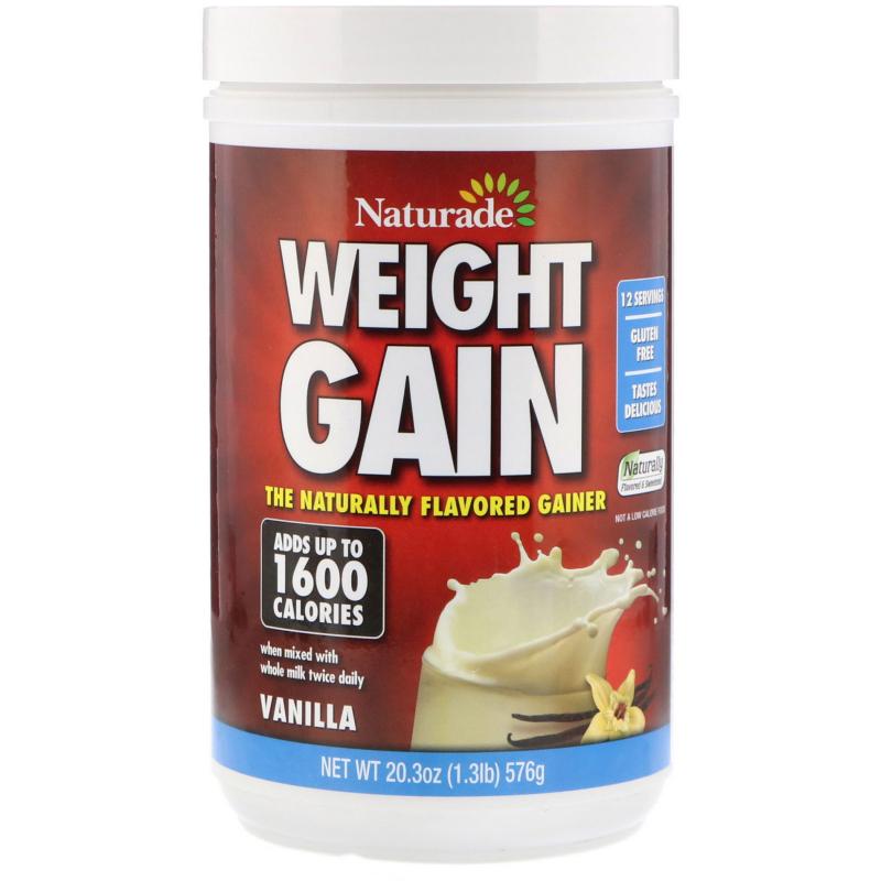 Naturade, Weight Gain, Vanilla, 1.3 lbs (576 g)