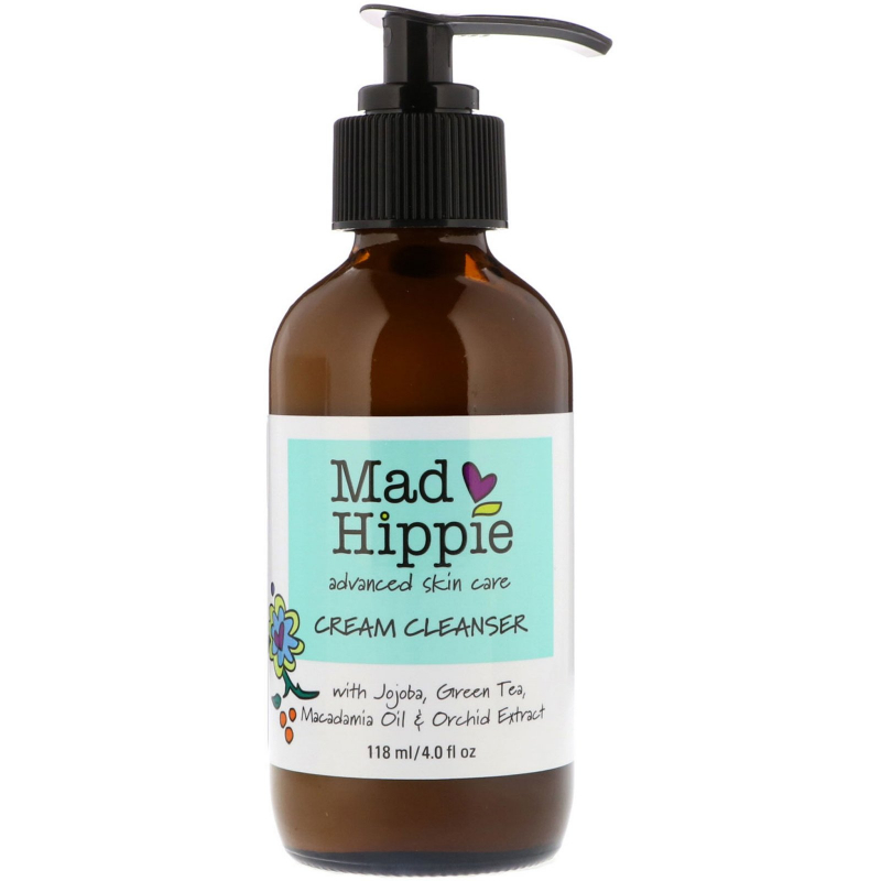 Mad Hippie Skin Care Products, Cream Cleanser, 13 Actives, 4.0 fl oz (118 ml)
