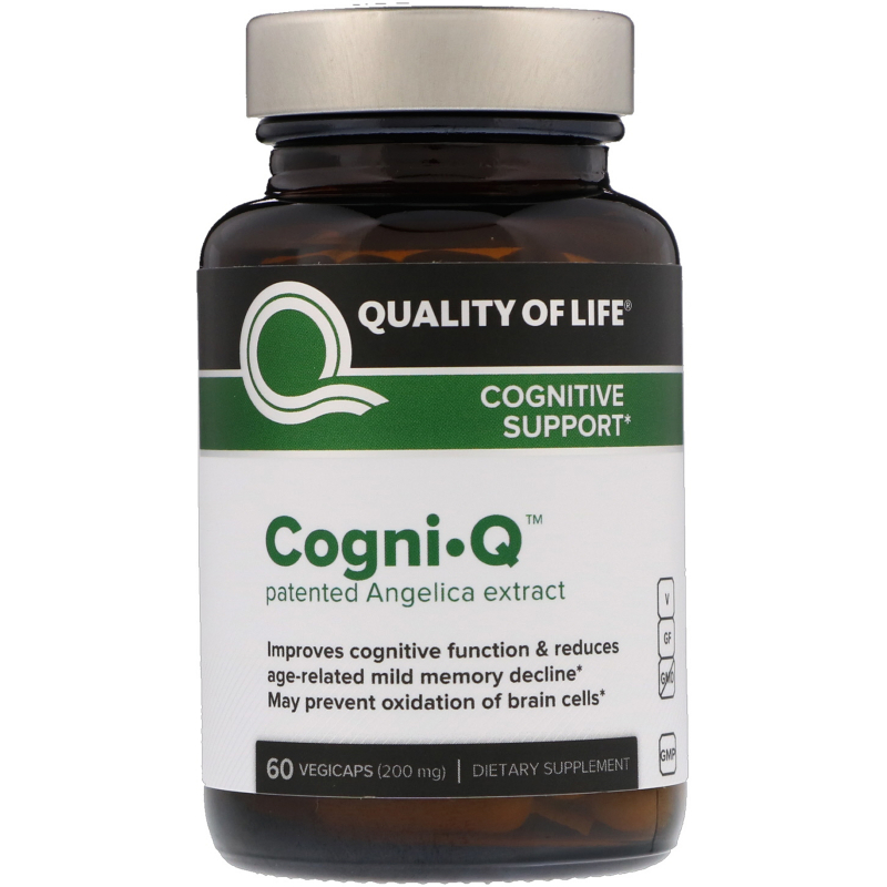 Quality of Life Labs, Cogni·Q, Cognitive Support, 200 mg, 60 VegiCaps