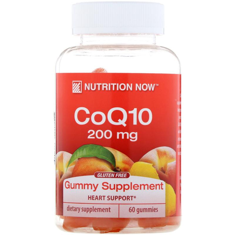 Nutrition Now, CoQ10, Natural Peach Flavor, 200 mg, 60 Gummies